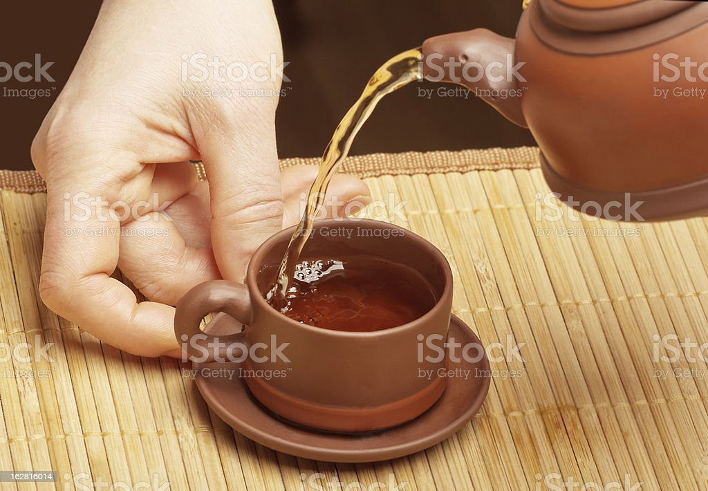 Pouring Chinese tea royalty-free stock photo