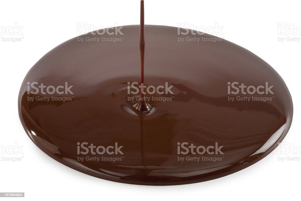 Pouring chocolate stock photo