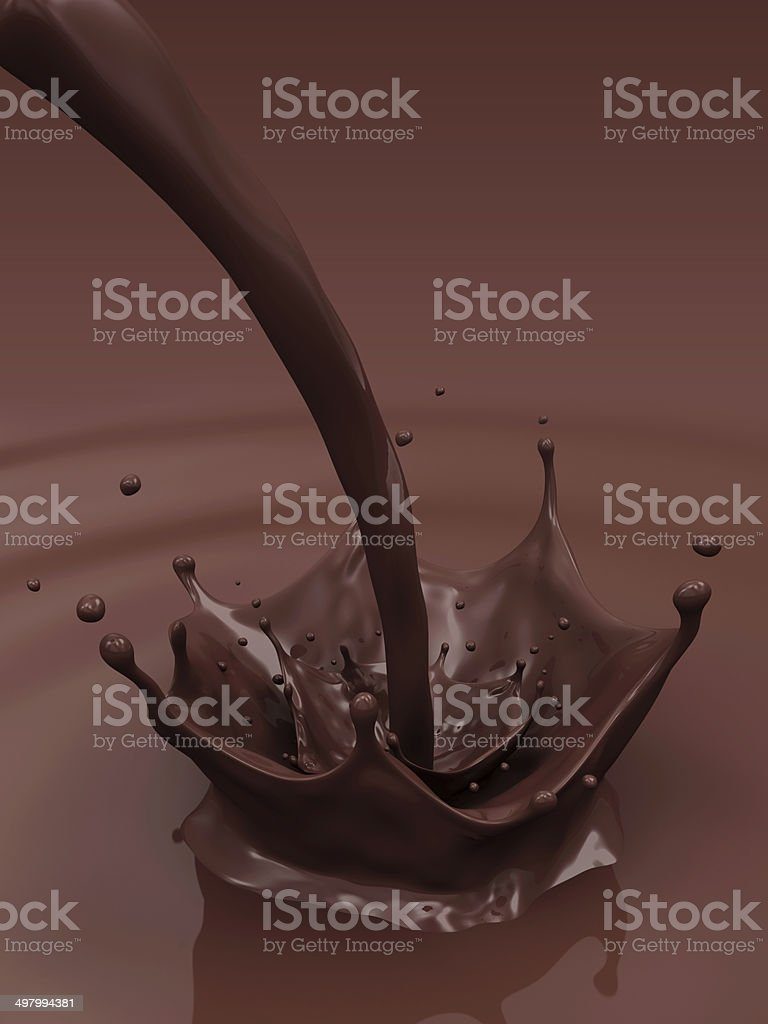 Pouring Chocolate Splash royalty-free stock photo
