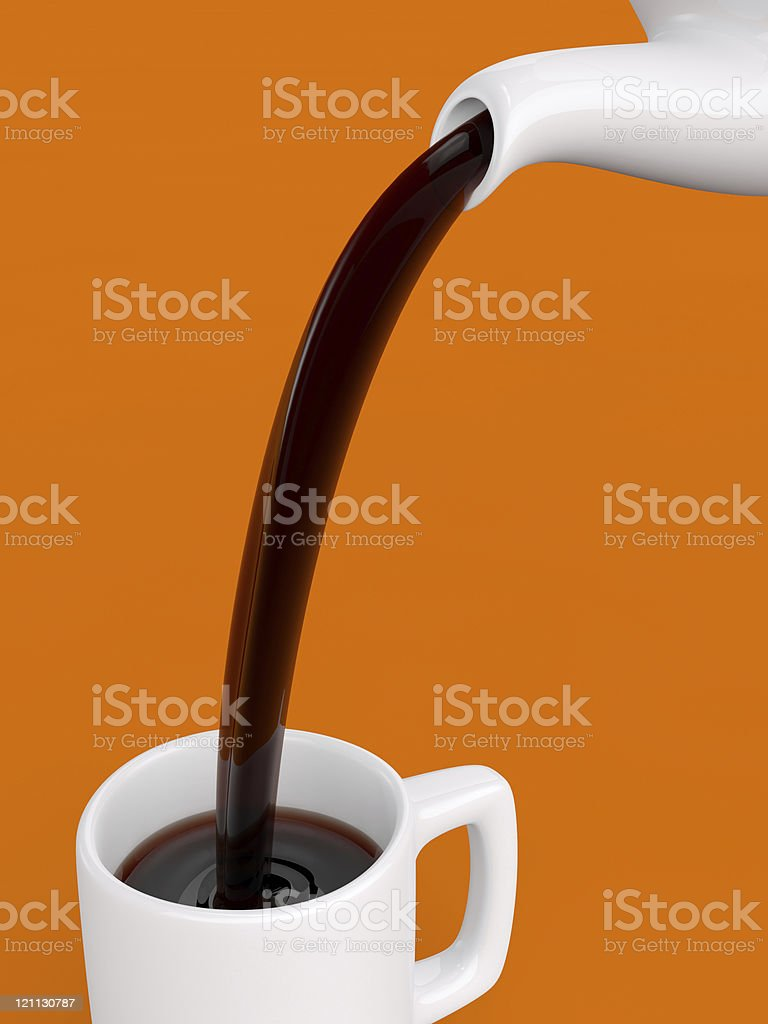 Pouring Coffee royalty-free stock vector art
