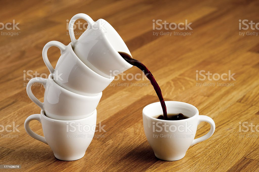 Pouring coffee. royalty-free stock photo