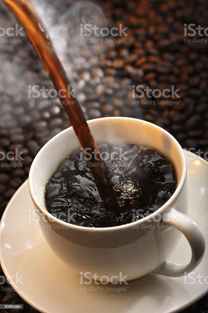pouring coffee stock photo