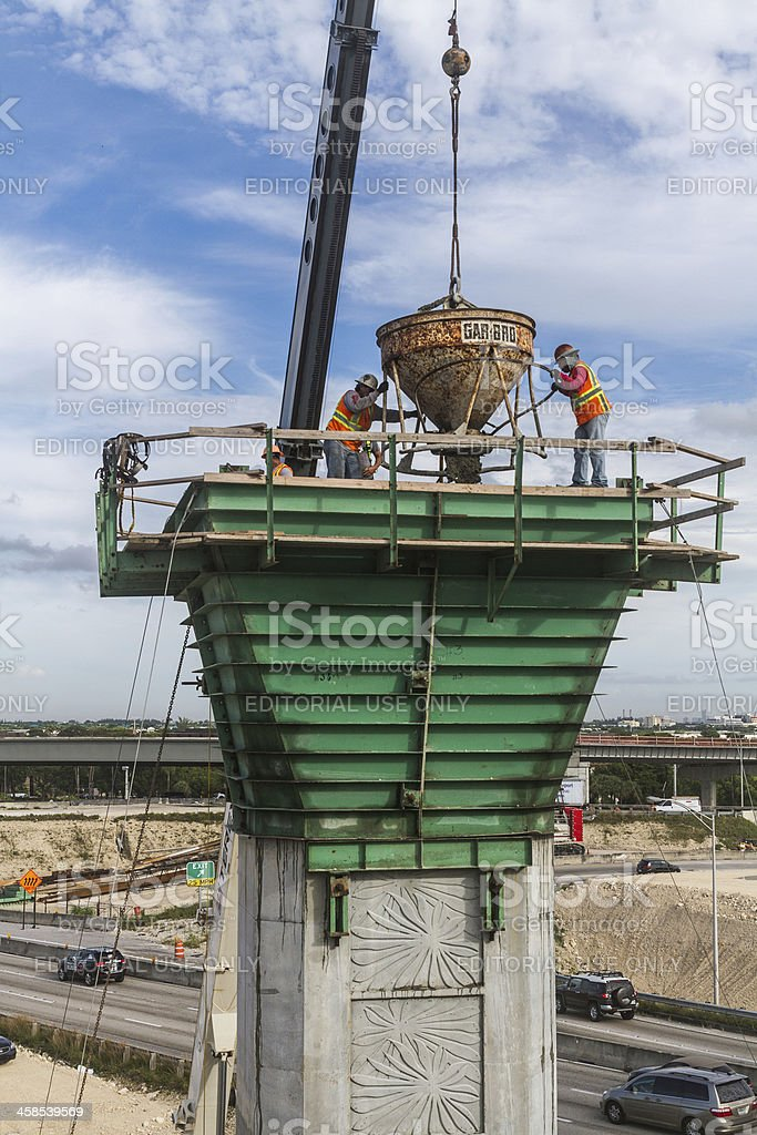Pouring concrete II royalty-free stock photo