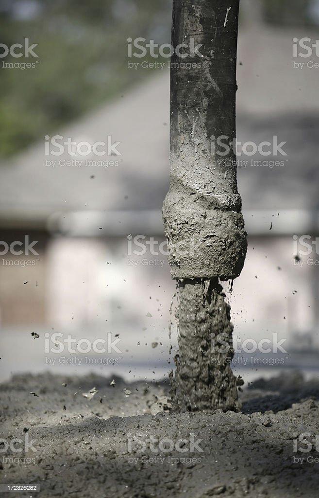 Pouring Concrete royalty-free stock photo