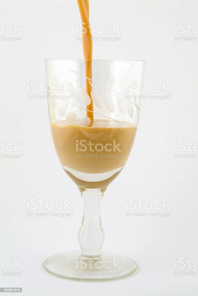Pouring Cream Liqueur royalty-free stock photo