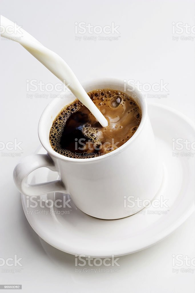 Pouring cream stock photo