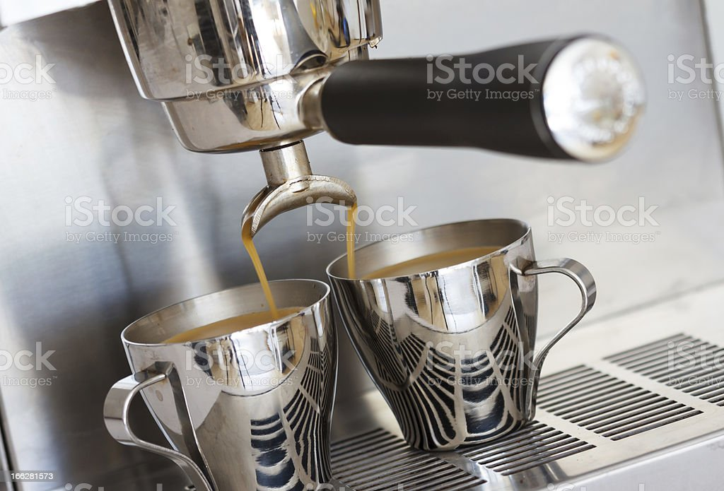 Pouring espresso royalty-free stock photo