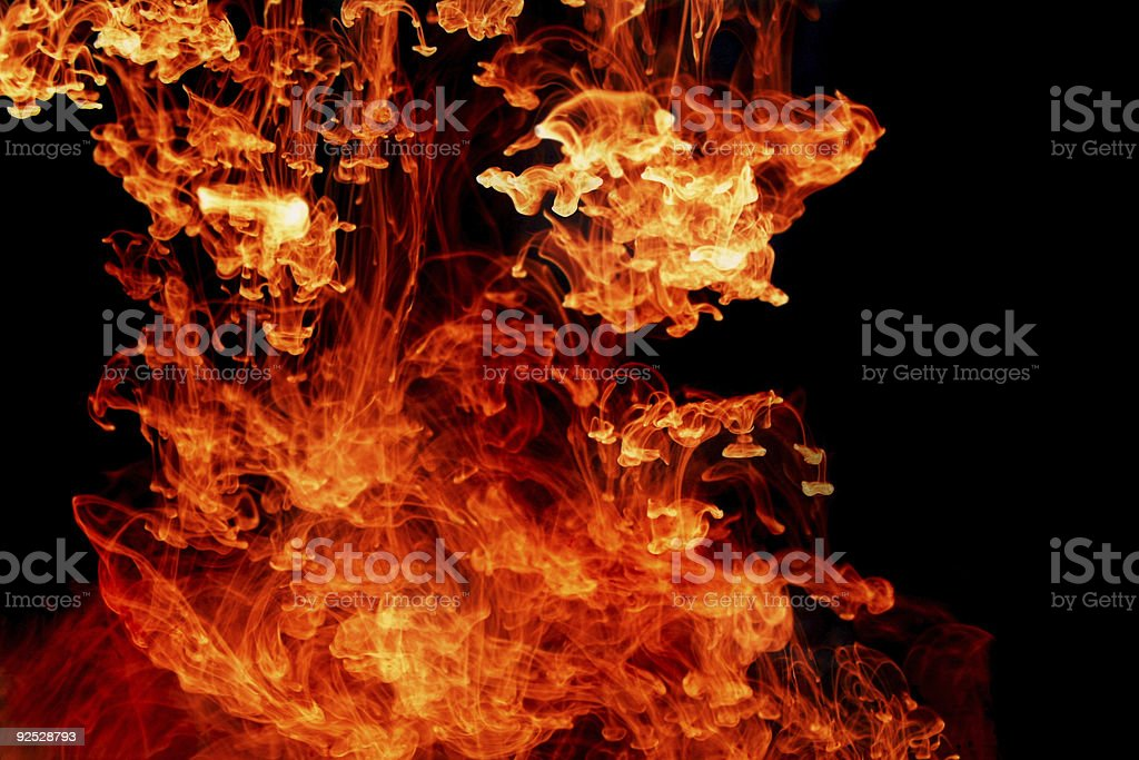 pouring flame royalty-free stock photo