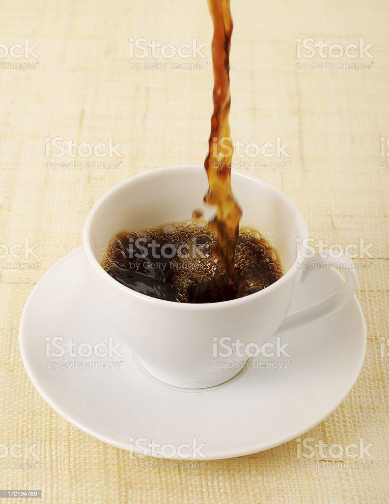 Pouring fresh coffee royalty-free stock photo