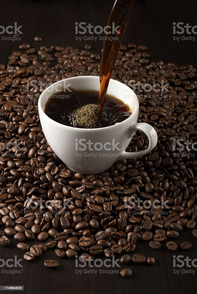Pouring fresh coffee royalty-free stock photo