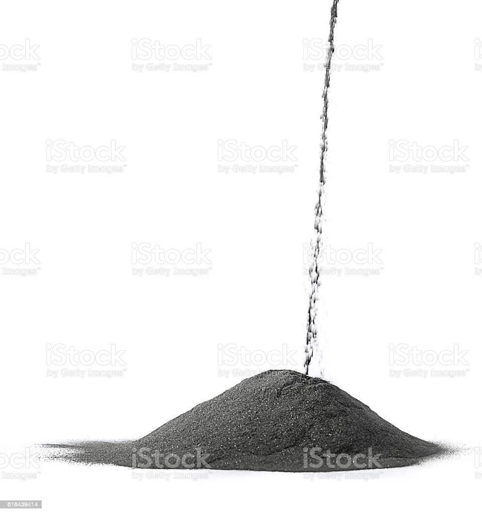 Pouring Lead Powder Isolated stock photo