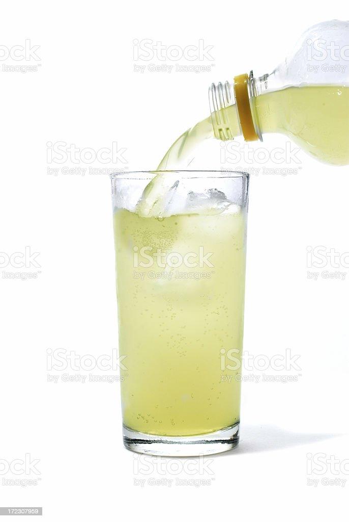 pouring lemonade stock photo