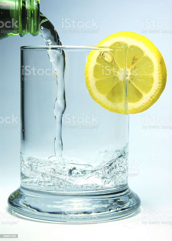 Pouring Mineral Water royalty-free stock photo
