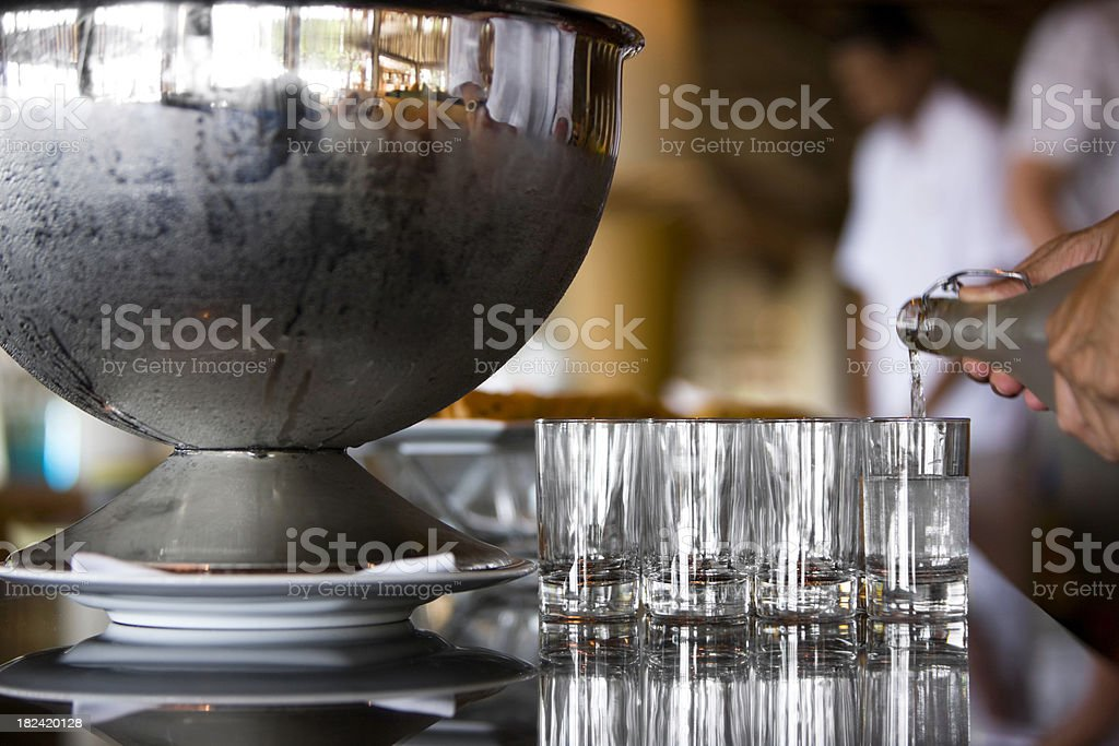 Pouring royalty-free stock photo