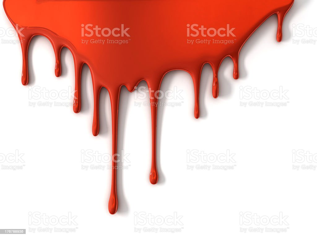 pouring red paint royalty-free stock photo