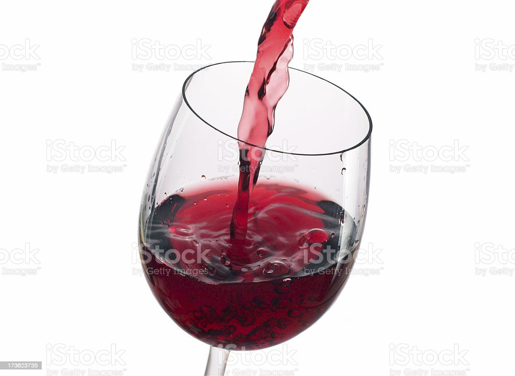 pouring red royalty-free stock photo