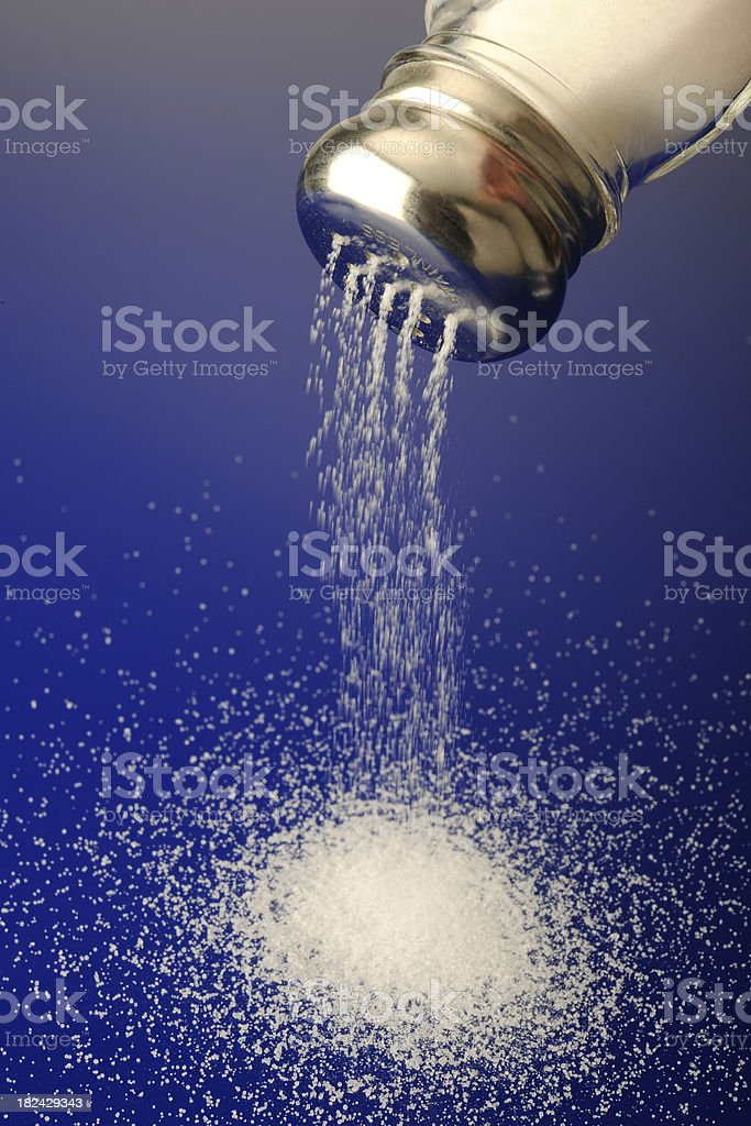 Pouring Salt royalty-free stock photo