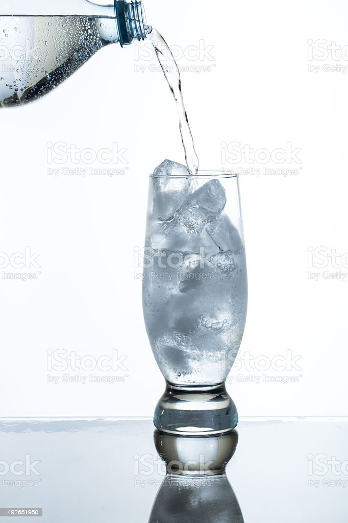 pouring soda water stock photo
