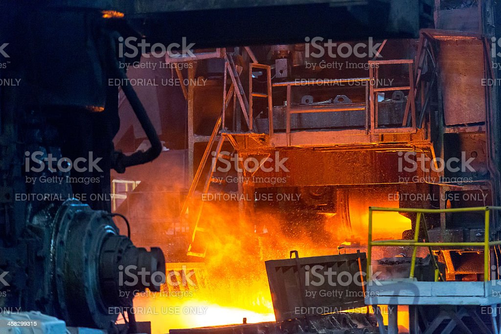 Pouring Steel royalty-free stock photo
