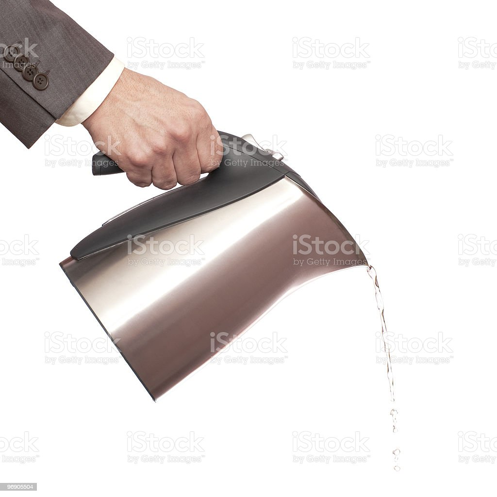 Pouring tea kettle royalty-free stock photo