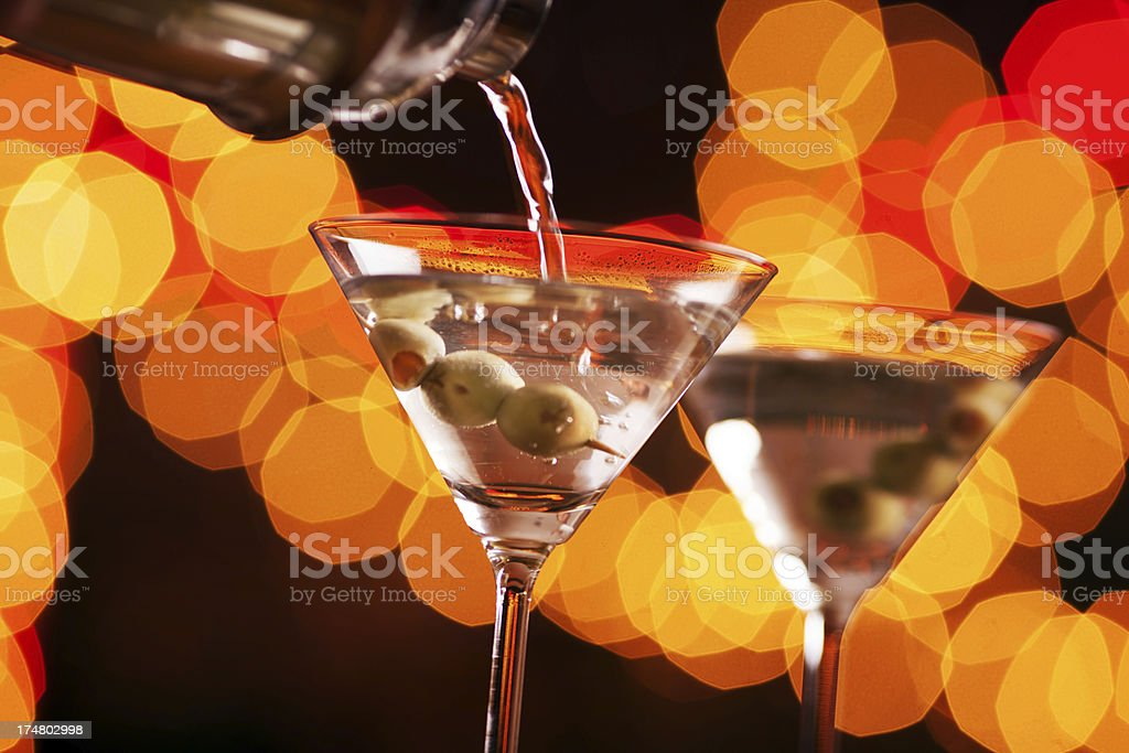 Pouring the drinks royalty-free stock photo