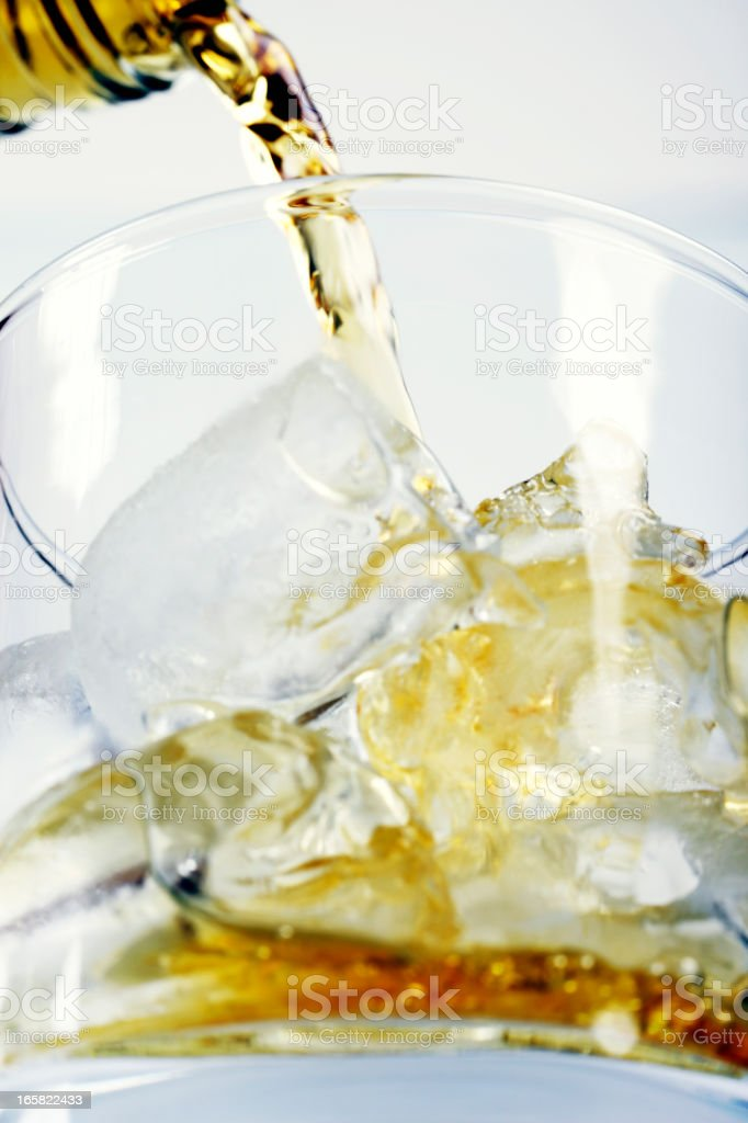 Pouring Whisky into Glass royalty-free stock photo