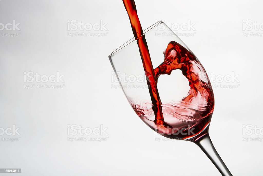 Pouring wine Glass royalty-free stock photo