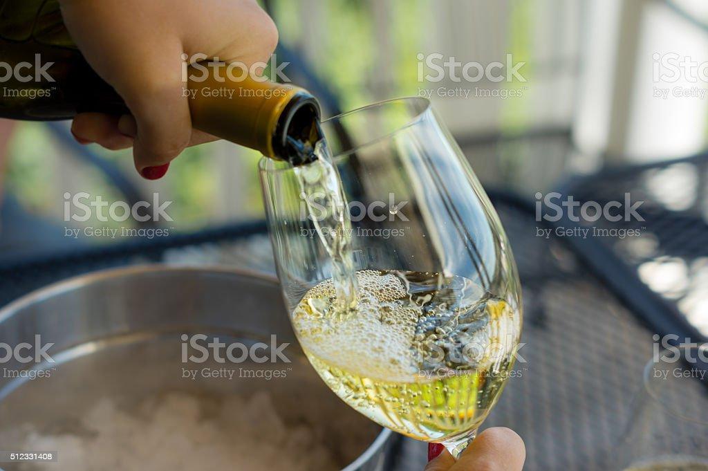 Pouring Wine stock photo