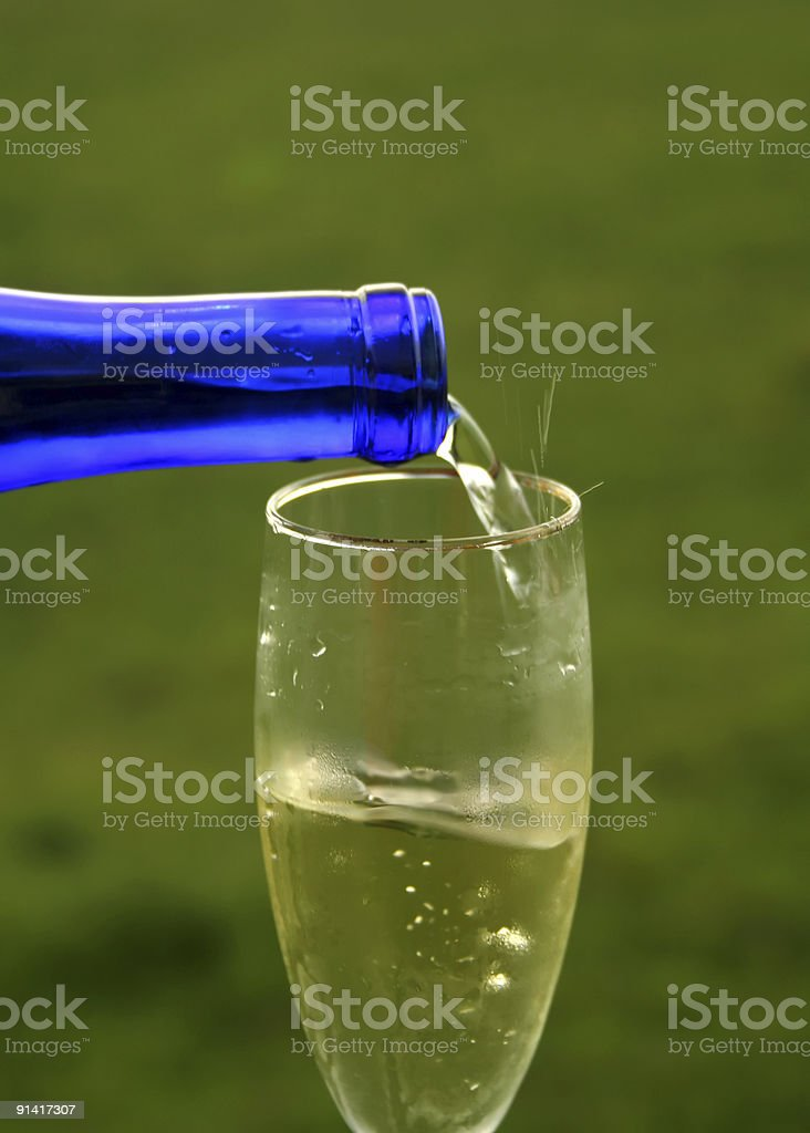 Pouring Wine royalty-free stock photo