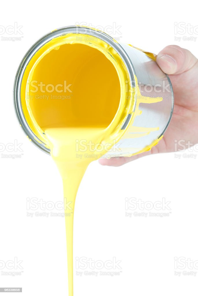 Pouring Yellow royalty-free stock photo