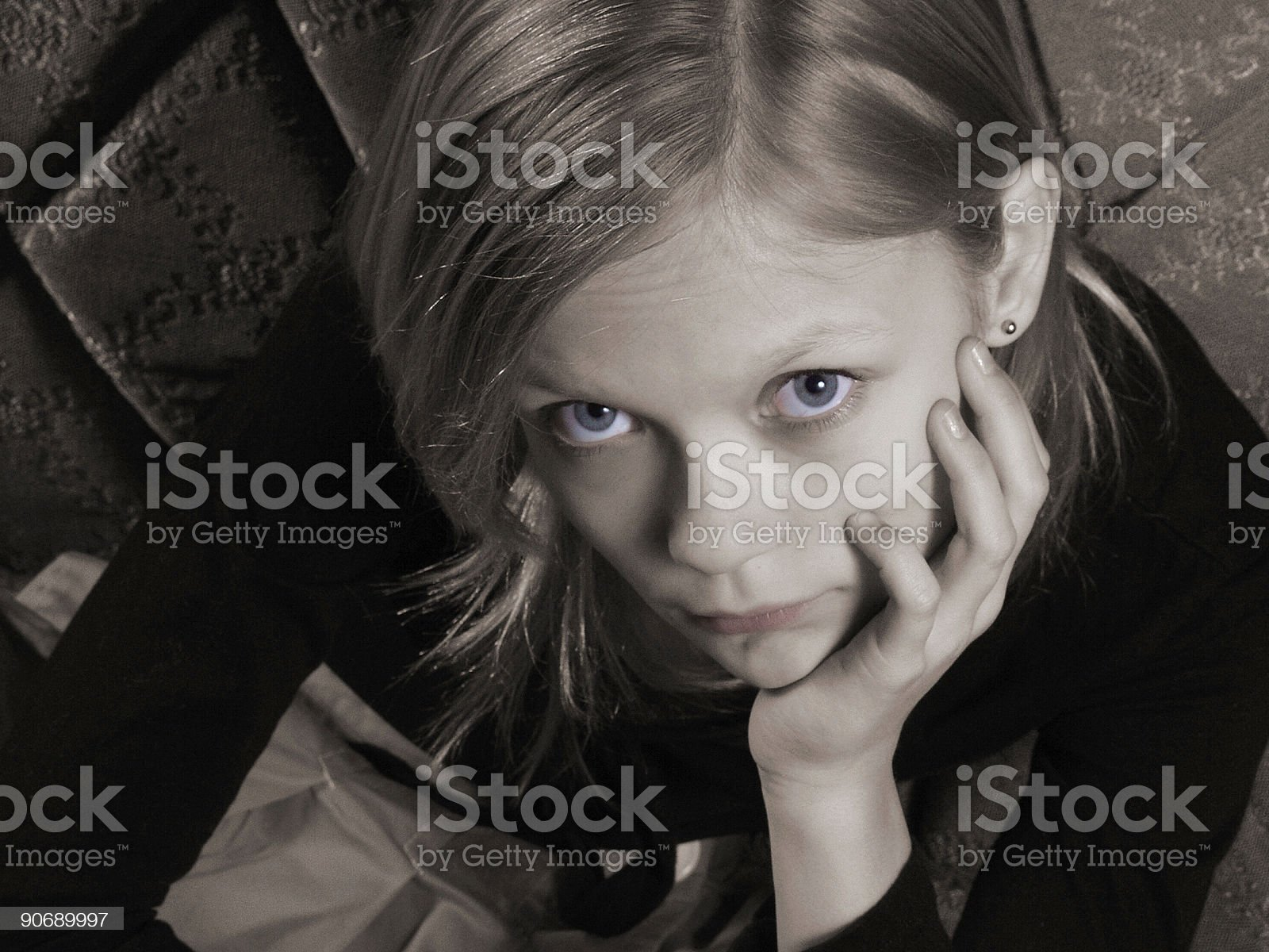 Pout royalty-free stock photo