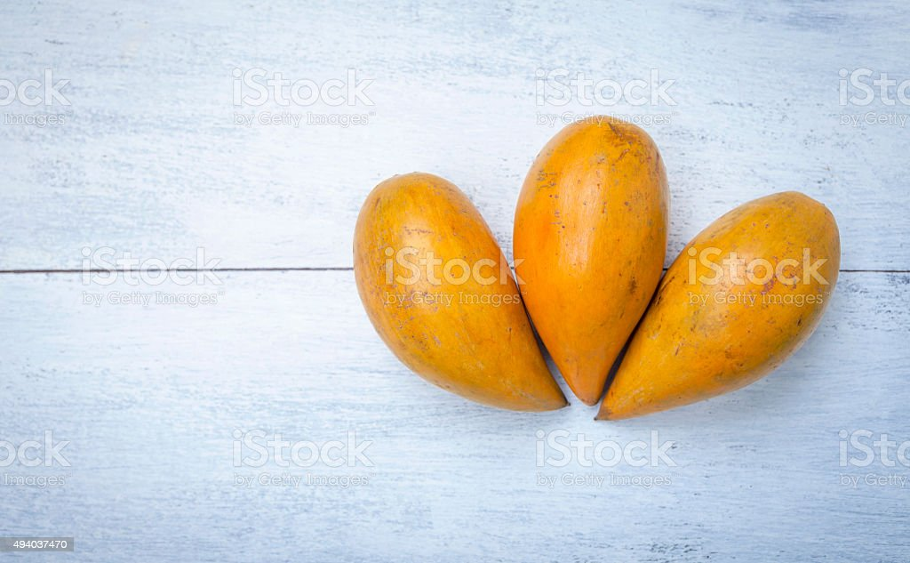 Pouteria Campechiana fruit stock photo