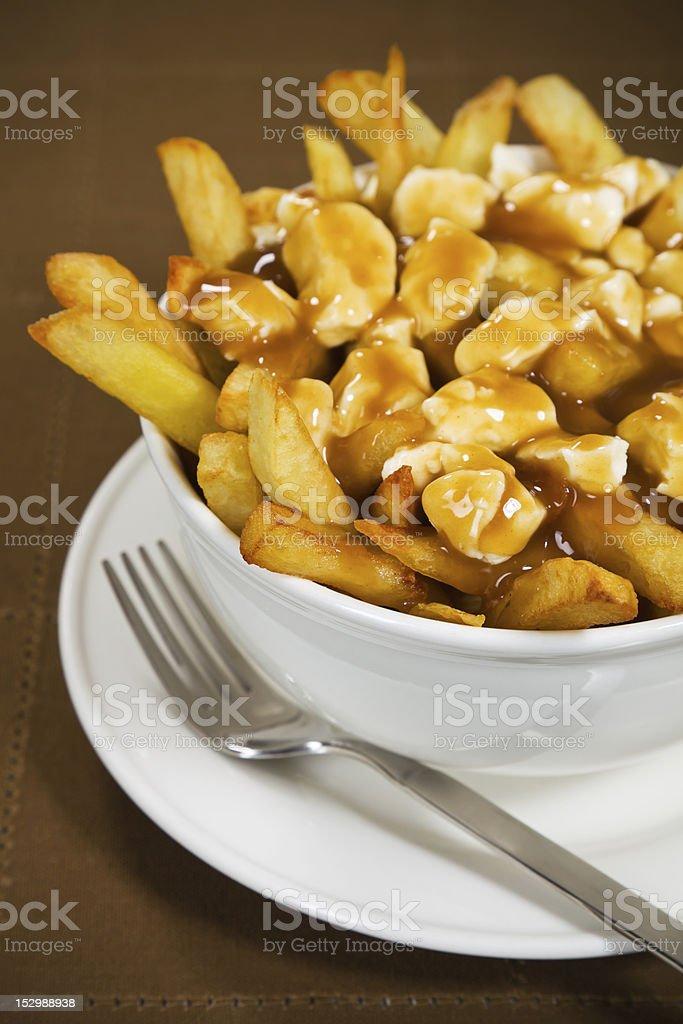 Poutine meal stock photo