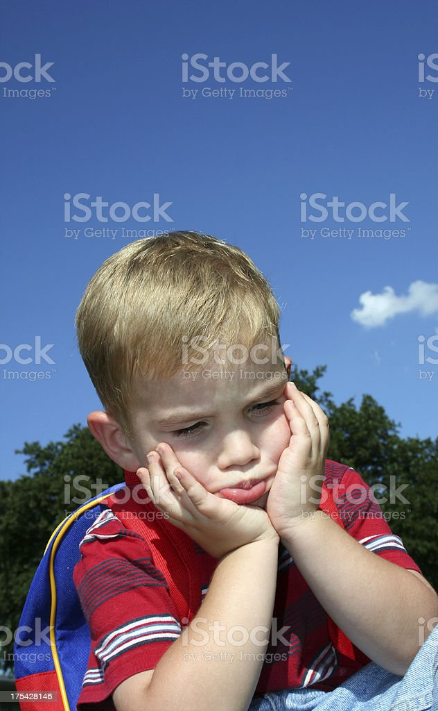 Pouting Boy royalty-free stock photo