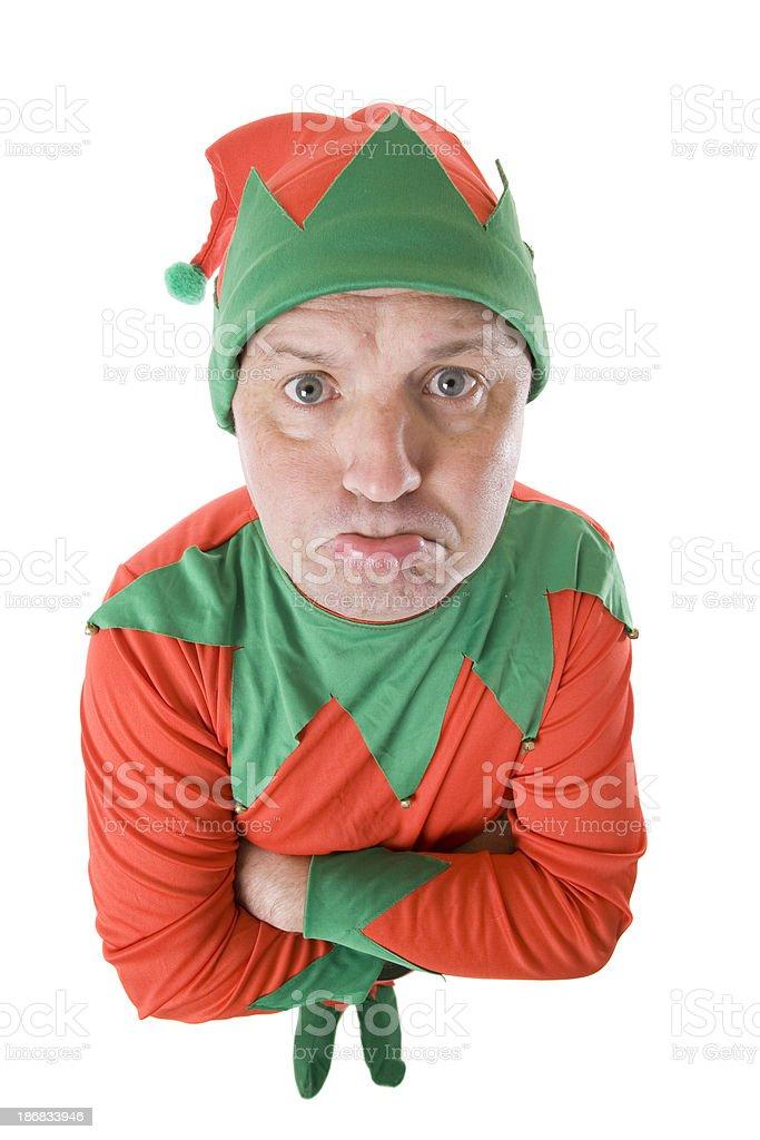 Pouting Elf royalty-free stock photo