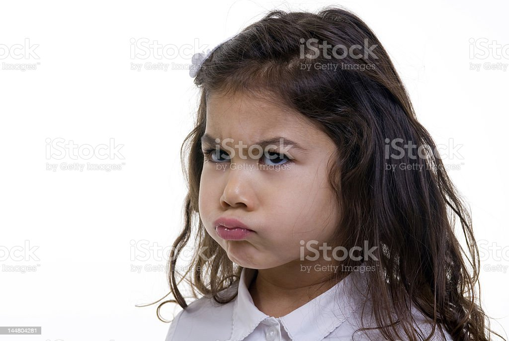 Pouting Girl royalty-free stock photo