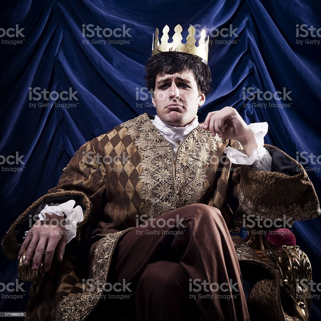 Pouting King royalty-free stock photo