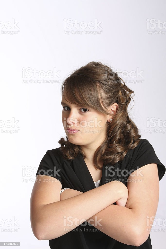 Pouting Teenager royalty-free stock photo