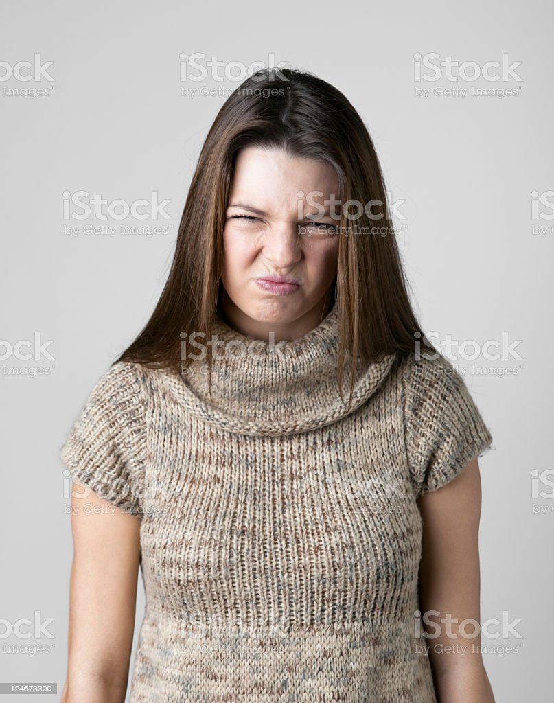Pouting Young Woman royalty-free stock photo