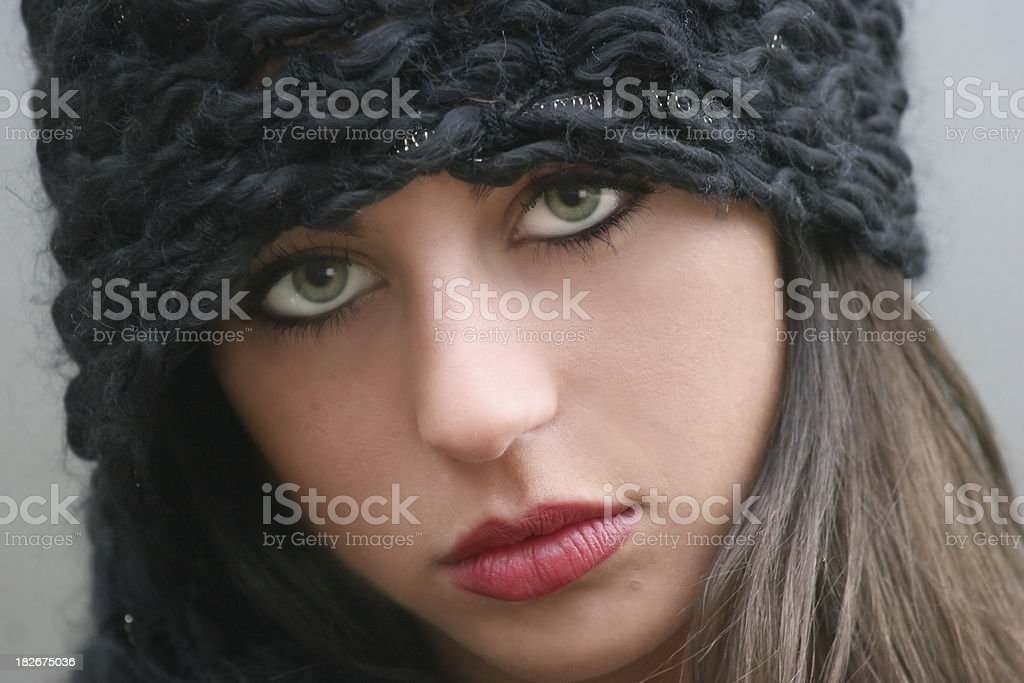 pouty girl royalty-free stock photo