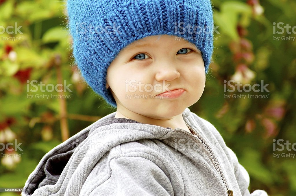 Pouty Toddler royalty-free stock photo