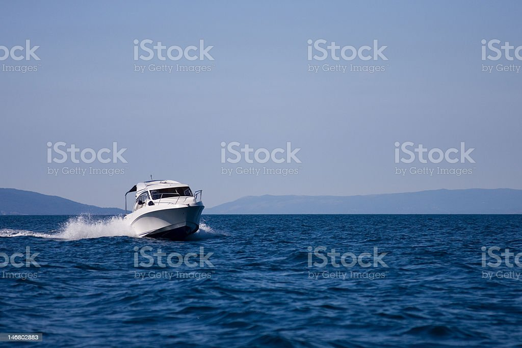 Poverboat stock photo
