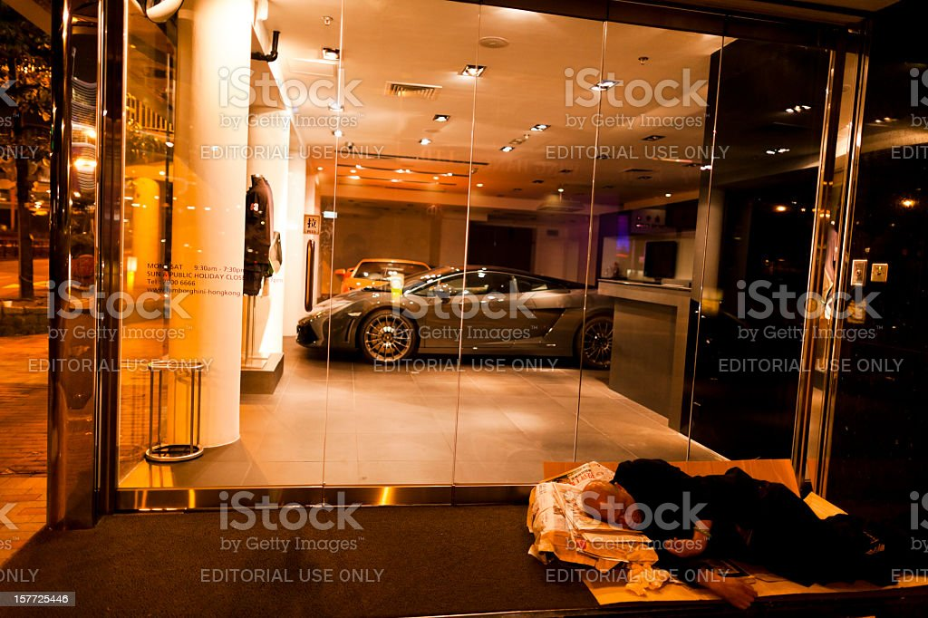 Poverty and luxury royalty-free stock photo