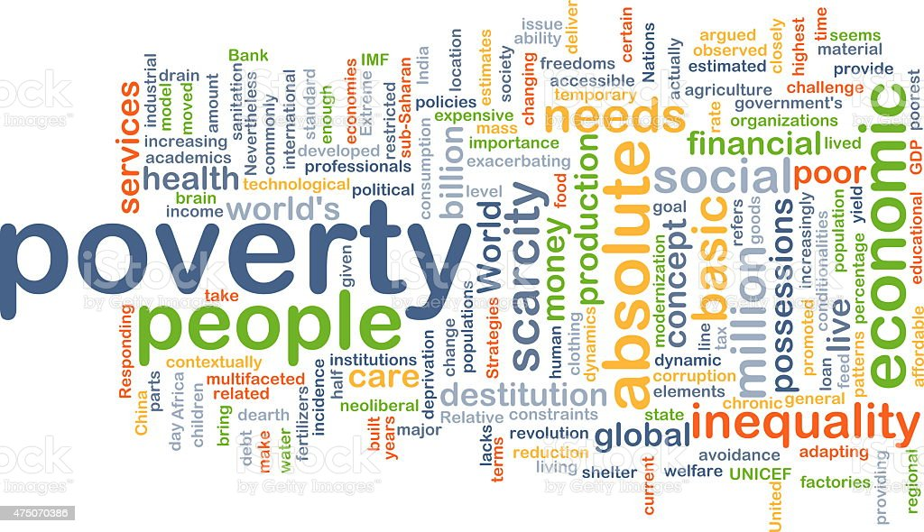 Poverty background concept stock photo