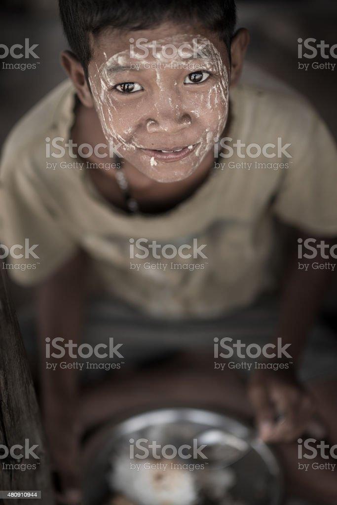 Poverty boy stock photo
