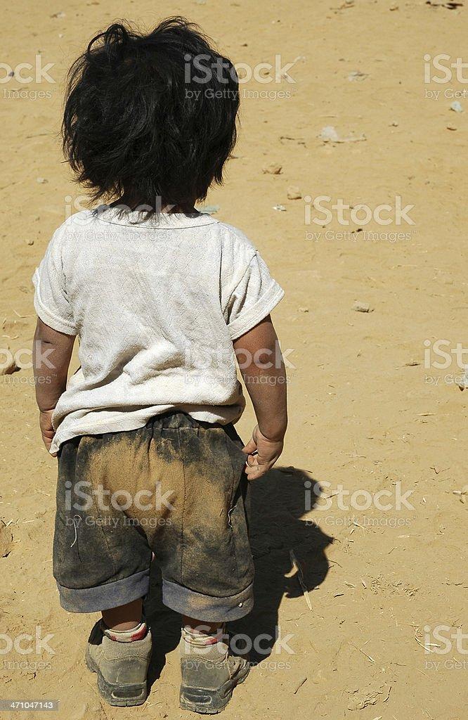 Нищета ребенка Стоковые фото Стоковая фотография