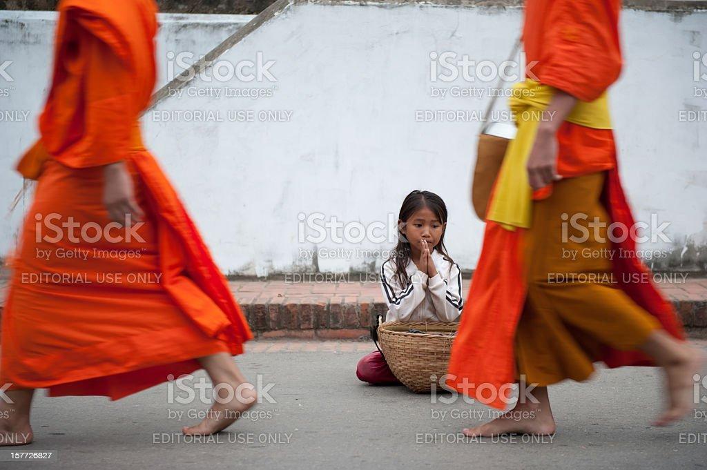 poverty girl stock photo