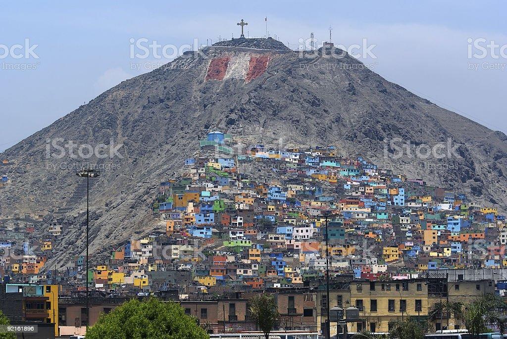 Poverty zones of Lima royalty-free stock photo