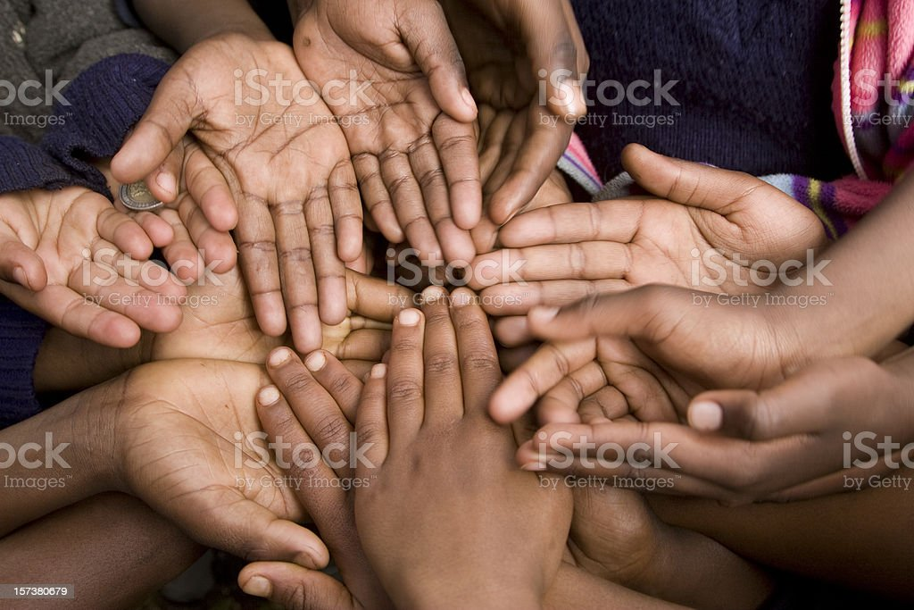 Poverty's hands royalty-free stock photo