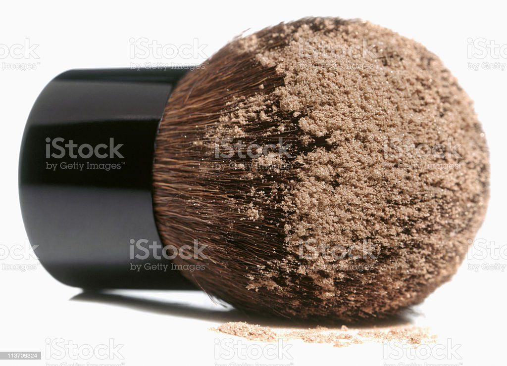 powder brush cut out on white royalty-free stock photo